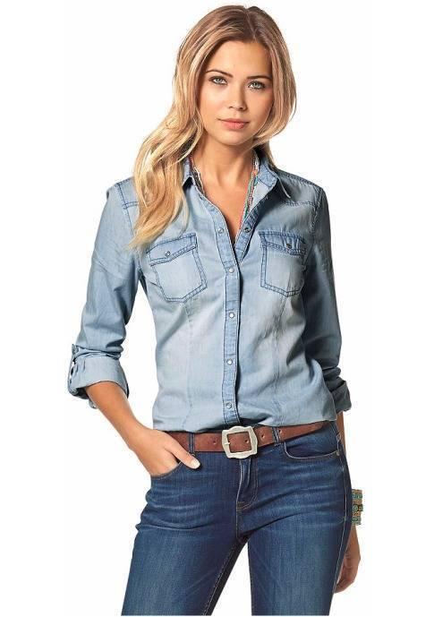 блузка к джинсам фото